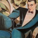 Secondo lavoro a pastello dedicato a Tamara de Lempicka