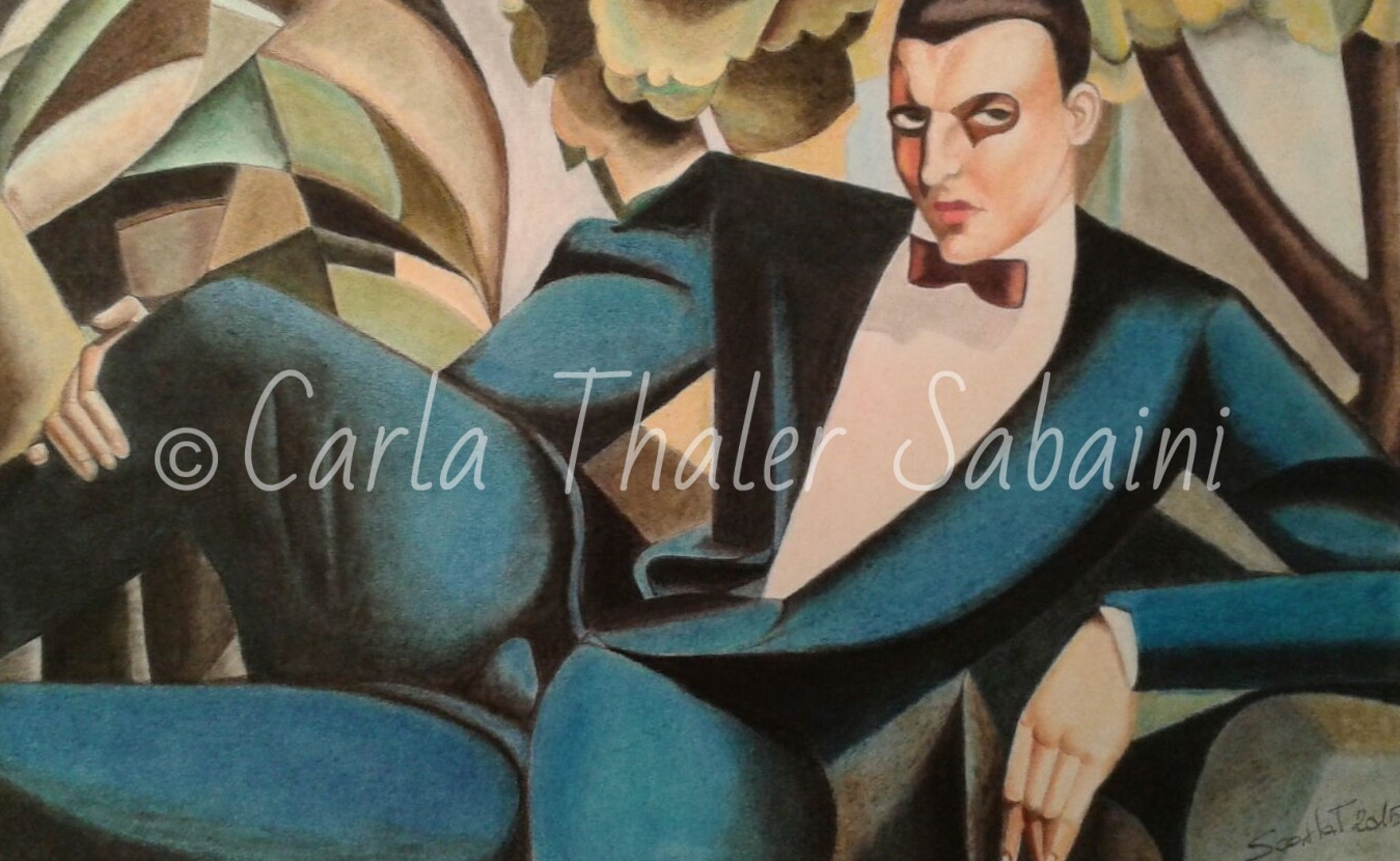 Pastello dedicato a Tamara de Lempicka
