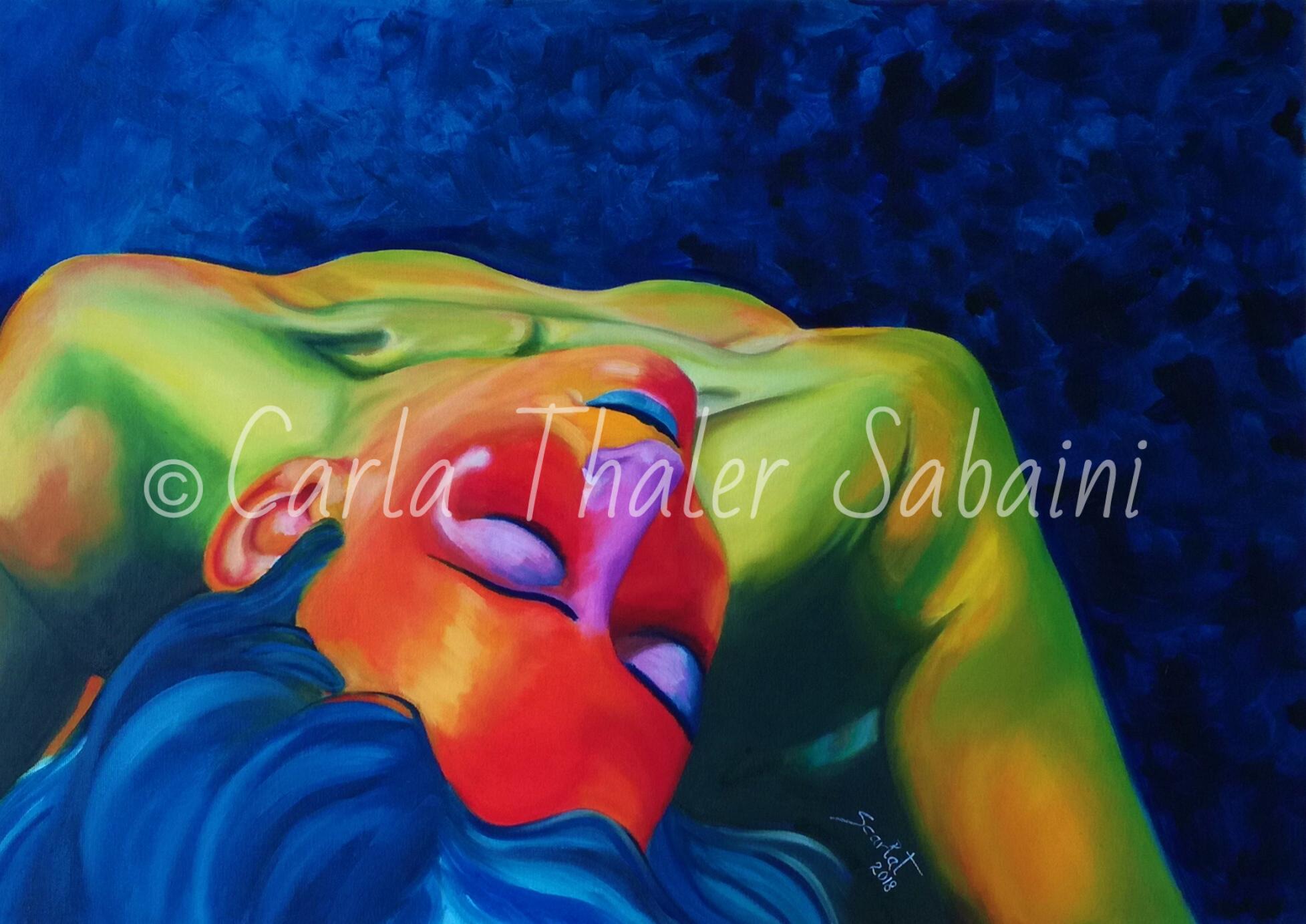 opera 'Gradisca' dell'artista Carla Thaler Sabaini, pittrice contemporanea.